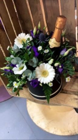 Floral prosecco hat box