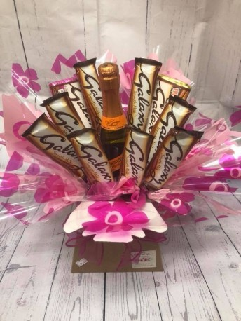 Chocolate bouquet with prosecco