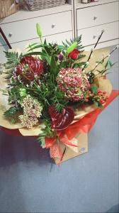 Hydrangea hand tied bouquet