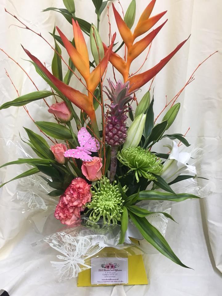 Tropical modern arrangement