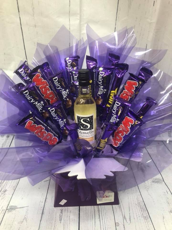 Chocolate bouquet and wine