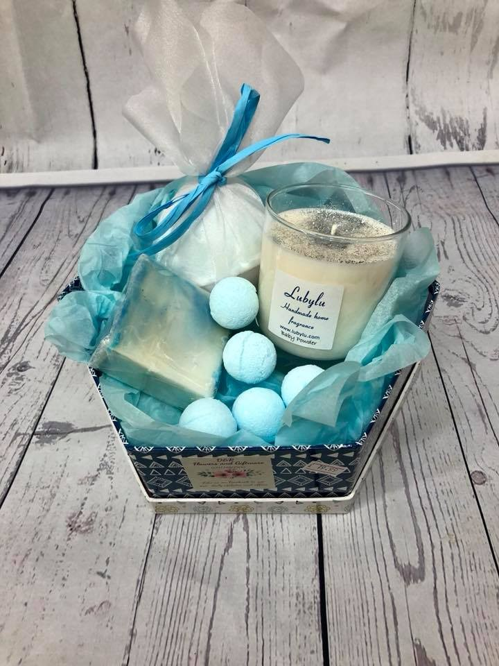 Baby powder bath hamper